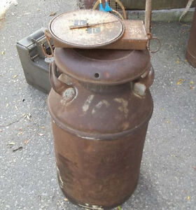 #greenspotantiques old milk cans, thermometer, lacrosse stick, p