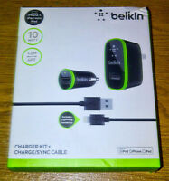 Chargeur Belkin maison/auto + cable pour iPhone 5/5s - Neuf