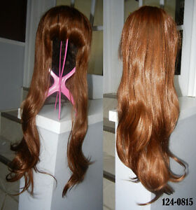 BRAND NEW: Natural Brown Wavy Cosplay Wig (124-0815)