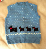 Hand Knit SCOTTIE DOG Sleeveless Sweater VEST City of Montréal Greater Montréal Preview