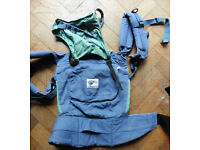 ERGO blue front & back baby carrier mei tei
