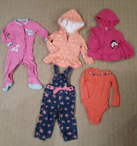 Lot of 18 month Girls clothing incl 2 hoodies