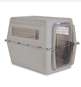 ISO crate for large breed dogs.
