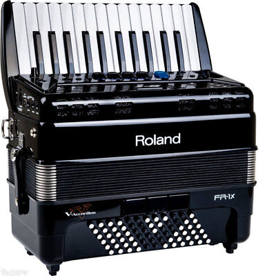 Roland FR-1x Piano type Digital V Accordion Black FR1x New