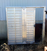 Stock trailer end gate