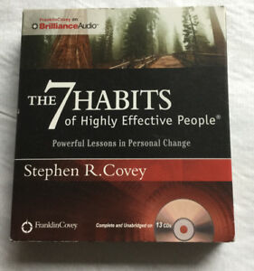 13 CD box set Audiobooks - 7 Habits of Highly Effective People