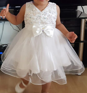 Special occasion white tutu dress, top, hat and socks (18M)