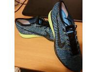 Nike flyknit racer polarised green UK 10