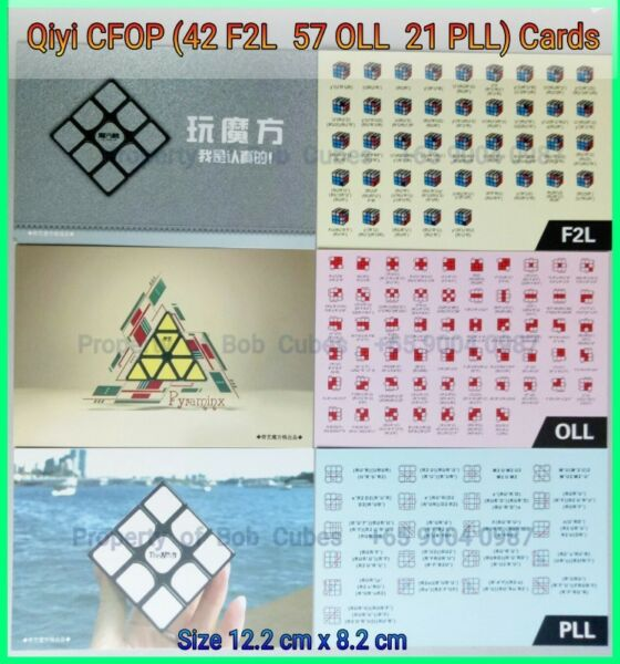 - Qiyi CFOP Algorithms cards (42 F2L 57 OLL 21 PLL) for solving Rubiks Cube for sale in Singapore !