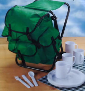 Backpack/Portable Chair/Picnic Set – NEW!