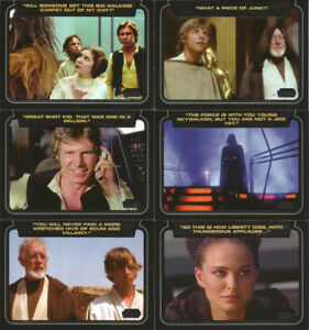Star Wars Galactic Files SR. 2CLASSIC LINES 10Card Insert CL1-10