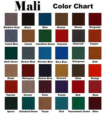 - 8 FOOT MALI POOL TABLE CLOTH / BILLIARD FELT / FABRIC / PRE-CUT in CAMEL