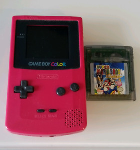Gameboy Color (Red) + Super Mario Deluxe game