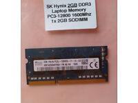 2GB SK Hynix laptop DDR3 memory module £6 only!