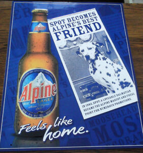 aluminium Alpine Beer signs - 4 different available