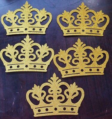 5 pcs BabyShower Decoration Prince/ Princess Foam gold crown  - Crown Decorations