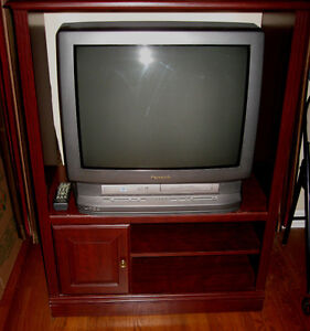 TV with built-in DVD/VCR with stand