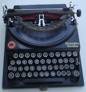 Reduced-Antique Remington Portable Typewriter 1920