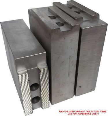 """SP-6200P STEEL SOFT JAWS FOR SQUARE SERRATED KEY TYPE 6/"""" CHUCK W//A 2/"""" HT 3PC SET"""