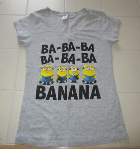 Girls Minion v-neck t-shirt size Lg (16) *Never worn!