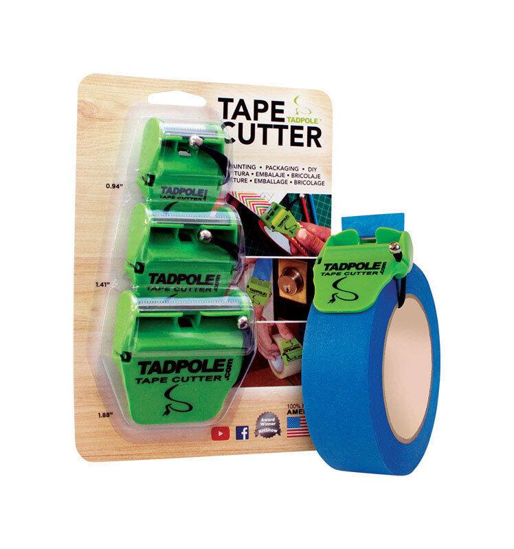 Tadpole  2 inch  L Tape Cutter  Green