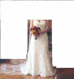 Maggie Sottero *Lorie* Wedding Dress and Veil for SALE! London Ontario image 1