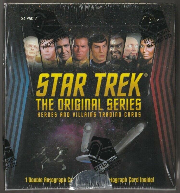 24 Packs STAR TREK VOYAGER Heroes /& Villians Sealed Box of Trading Cards