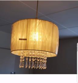 Cream droplet ceiling light