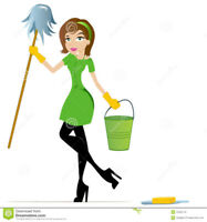 Middle age woman providing cleaning services