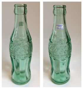Rare Georgia green Canadian Coca-Cola bottle / Bouteille