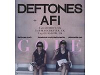 1 standing ticket for Deftones & AFI at the Alexandra Palace on Fri 5 May 2017