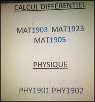 MATHS 1903/1923/1905 PHY 1901/1902