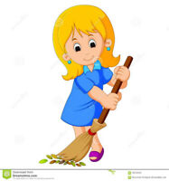 Insured Cleaning lady, housekeeper, house or home cleaning