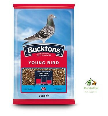 20KG BUCKTONS YOUNG BIRD PIGEON FOOD FEED MAPLE / BLUE / WHITE PEAS / SAFFLOWER