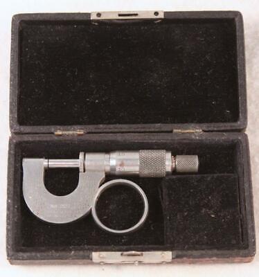 Vintage The L.s. Starrett Co. No. 221 Precision Micrometer In Original Case