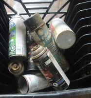 Old Spray paint cans. FREE