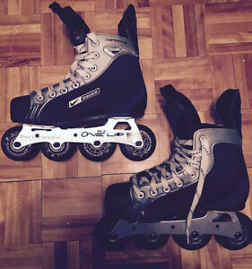 BEAUER NIKE BLACK AND SILVER ROLLERBLADE