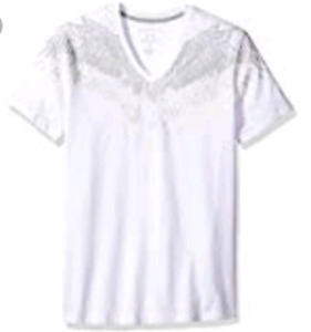 A|X Armani Exchange Men's Eagle Wing V Neck Tee