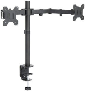 Dual Monitor Arms Fully Adjustable Desk Mount