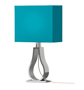 "IKEA KLABB 17"" Tall Table lamp - Turquoise"
