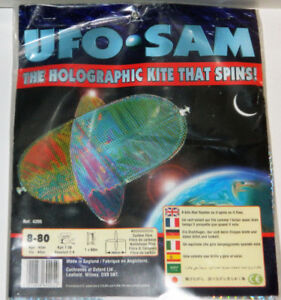 UFO SAM Holographic Kite That Spins - New