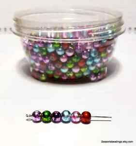 530 6mm glass beads with storage container