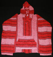 Mens or Womens Pull Over Poncho Hoodies Size Large