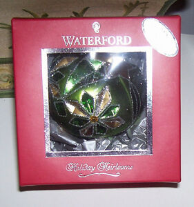 Waterford Holiday Heirloom Chartreuse Tramore Drop Ornament London Ontario image 2