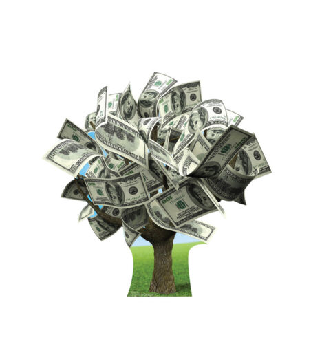 MONEY TREE - LIFE SIZE STANDUP/CUTOUT BRAND NEW - PARTY 2784