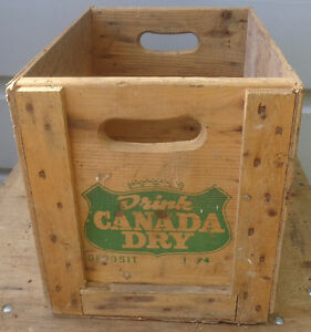 RP2180 Vintage Canada Dry Ginger Ale Soda Pop Wooden Crate Case Kawartha Lakes Peterborough Area image 2