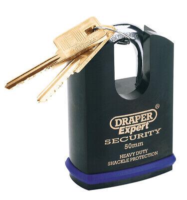 50 Mm Shrouded Shackle (DRAPER Expert 50mm Heavy Duty Padlock and 2 Keys with Shrouded Shackle 64197 )