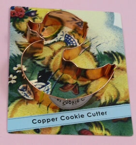 "Copper ""DUCKY"" cookie cutter"