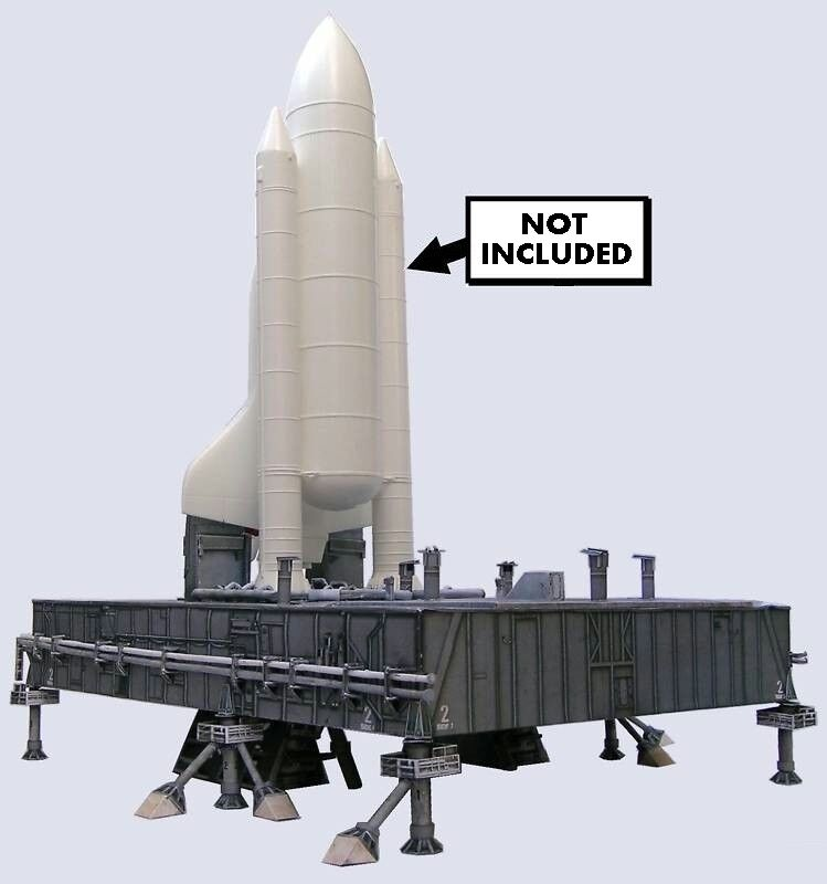 Space Shuttle Mobile Launcher MLP for Revell w/Boosters 144 Craft Model Pls.Read