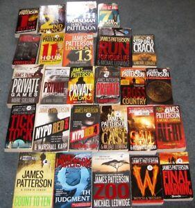James Patterson soft cover books $2 each